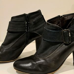 G-Star Raw Leather and Denim boots